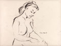 "Animation Art:Production Drawing, Chuck Jones ""Female Nude"" Drawing...."