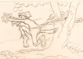 Animation Art:Production Drawing, The Big Bad Wolf Production Drawing (Walt Disney, 1934)....