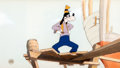Animation Art:Production Cel, The Boat Builders Goofy Production Background withPresentation Cel (Walt Disney, 1938)....