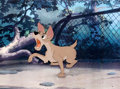 Animation Art:Production Cel, The Lady and the Tramp Barking Tramp Production Cel (WaltDisney, 1955)....