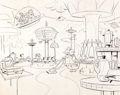 Animation Art:Production Drawing, The Jetsons Concept Drawing Original Art (Hanna-Barbera,1962)....