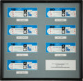 Hockey Collectibles:Others, 1980 USA Olympic Hockey Team Full Ticket Display Presented to Mike Eruzione....