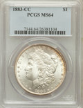 Morgan Dollars: , 1883-CC $1 MS64 PCGS. PCGS Population (13920/9403). NGC Census:(6629/5149). Mintage: 1,204,000. Numismedia Wsl. Price for ...