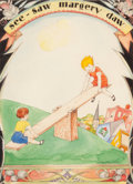 Mainstream Illustration, WILLY POGANY (Hungarian/American, 1882-1955). See-Saw MargeryDaw, Willy Pogany's Mother Goose book illustration, circa ...