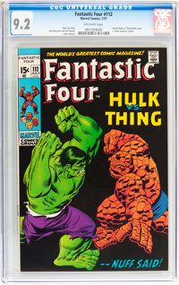 Fantastic Four #112 (Marvel, 1971) CGC NM- 9.2 Off-white pages