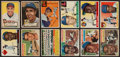 Baseball Cards:Lots, 1952 - 1956 Topps Baseball Collection (214) With Stars & HoFers. ...