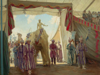 VICTOR COLEMAN ANDERSON (American, 1882-1937) The Circus Pageant Oil on canvas 30 x 40 in. Sig