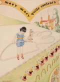 Mainstream Illustration, WILLY POGANY (Hungarian/American, 1882-1955). Mary Mary QuiteContrary, Willy Pogany's Mother Goose book illustration, c...