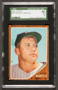 Baseball Cards:Singles (1960-1969), 1962 Topps Mickey Mantle #200 SGC 60 EX 5....