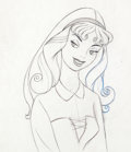 Animation Art:Production Drawing, Sleeping Beauty Briar Rose Production Drawing (Walt Disney,1959)....