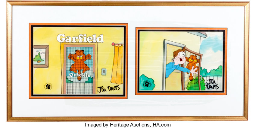 Garfield And Friends Garfield And Jon Production Cels Paws Inc Lot 31274 Heritage Auctions