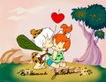 "Animation Art:Presentation Cel, The Flintstones ""First Kiss"" Limited Edition Cel(Hanna-Barbera, 1990s)...."