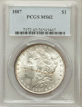Morgan Dollars: , 1887 $1 MS62 PCGS. PCGS Population (7452/115022). NGC Census:(8397/155571). Mintage: 20,290,710. Numismedia Wsl. Price for...
