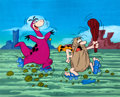 Animation Art:Production Cel, Captain Caveman and Dino Production Cel (Hanna-Barbera)....