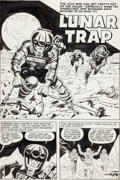 """Original Comic Art:Complete Story, Jack Kirby and Al Williamson Race For the Moon #2 Complete 5-Page Story """"Lunar Trap"""" Original Art (Harvey, 1958)...."""