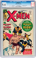 Silver Age (1956-1969):Superhero, X-Men #3 (Marvel, 1964) CGC NM 9.4 Off-white to white pages....