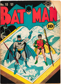 Batman #10 (DC, 1942) Condition: GD+