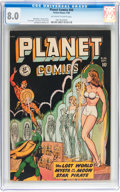 Golden Age (1938-1955):Science Fiction, Planet Comics #56 (Fiction House, 1948) CGC VF 8.0 Off-white towhite pages....