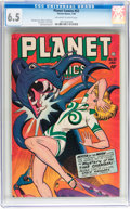 Golden Age (1938-1955):Science Fiction, Planet Comics #52 (Fiction House, 1948) CGC FN+ 6.5 Off-white towhite pages....