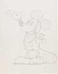Animation Art:Production Drawing, Les Clark (attributed) Mickey Mouse Preliminary Publicity Drawing(Walt Disney, c. 1930)....