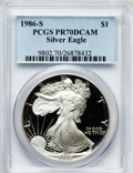 Modern Bullion Coins, 1986-S $1 One Ounce Silver Eagle PR70 Deep Cameo PCGS. PCGSPopulation (509). NGC Census: (1126). Mintage: 1,446,778. Numis...