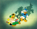 Animation Art:Production Cel, The Three Caballeros José Carioca and Donald Duck Courvoisier Production Cel Set-Up Signed by Walt Disney (Wal...