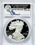 Modern Bullion Coins, 2012-W $1 One-Ounce Silver American Eagle, Insert autographed ByJohn M. Mercanti,12th Chief Engraver of the U.S. Mint Fi...