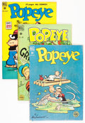 Golden Age (1938-1955):Cartoon Character, Popeye Group (Dell, 1949-57) Condition: Average VG.... (Total: 30Comic Books)