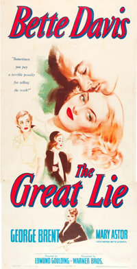 "The Great Lie (Warner Brothers, 1941). Three Sheet (41"" X 79"")"