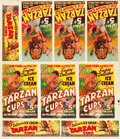 """Movie Posters:Serial, The New Adventures of Tarzan (Dixie Ice Cream Company, 1935). Ice Cream Cup Advertising Sheet (38"""" X 45"""").. ..."""