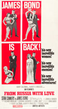 "Movie Posters:James Bond, From Russia with Love (United Artists, 1964). Three Sheet (41"" X78.5"") Style B.. ..."
