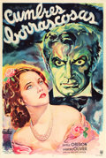 "Movie Posters:Romance, Wuthering Heights (Guaranteed Pictures, 1943). Argentinean OneSheet (29"" X 43"").. ..."