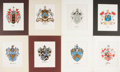 Books:Prints & Leaves, [Heraldry]. Group of Eight 19th Century Color Prints. Approx. 7.25x 9.75 inches. Matted. Very good....