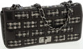 Luxury Accessories:Bags, Chanel Black Lambskin Leather & Tweed Flap Bag withMademoiselle Turnlock. ...