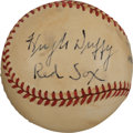 Autographs:Baseballs, 1940's Hugh Duffy Single Signed Baseball....