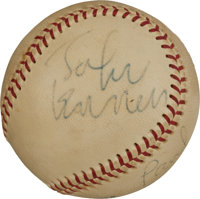The Finest Known Example of a Baseball Signed by The Beatles