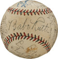 Autographs:Baseballs, An Exquisite 1932 New York Yankees Team Signed Baseball....
