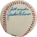 Autographs:Baseballs, 1960's Jackie Robinson Single Signed Baseball....