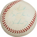 Autographs:Baseballs, 1961 President John F. Kennedy Single Signed First PitchBaseball....