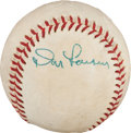 Baseball Collectibles:Balls, 1956 Don Larsen Single Signed Perfect Game Used Baseball....