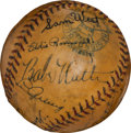 Autographs:Baseballs, 1933 American League All-Star Team Signed Baseball....