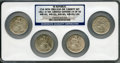 "Seated Half Dollars, 1861-O S.S. Republic ""CSA New Orleans Die Variety"" Four-CoinSet NGC.... (Total: 4 coins)"