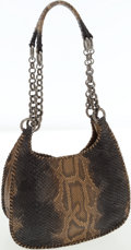 Luxury Accessories:Bags, Prada Natural Python Hobo Shoulder Bag with Chain Straps . ...