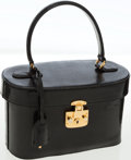 Luxury Accessories:Bags, Gucci Black Lizard Top Handle Vintage Travel Case. ...
