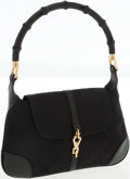 Luxury Accessories:Bags, Gucci Classic Black Canvas Mini Jackie Bag with Bamboo Handle. ...