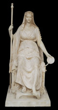 Sculpture, IMPORTANT PLASTER MODEL OF THE EMPRESS MARIE-LOUISE EN CONCORDE BY ANTONIO CANOVA (Italian, 1757-1822). 84 x 56 x 44 inches ...