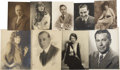 "Movie/TV Memorabilia:Memorabilia, Nine Signed ""Unknown Silent Star"" Portraits. ..."