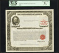 Serial Number 7 $100,000 United States Treasury Bond Due August 15, 1963 PCGS Very Choice New 64