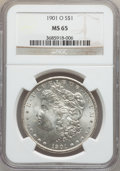 Morgan Dollars: , 1901-O $1 MS65 NGC. NGC Census: (4590/451). PCGS Population(2642/462). Mintage: 13,320,000. Numismedia Wsl. Price for prob...