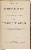 Miscellaneous:Ephemera, Thomas W. Streeter's Copy of Acts, Resolutions, and Memorials, Adopted by the Second Legislative Assembly of the Territo...